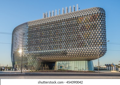 Adelaide South Australia 29 August 2014 ,  The SAHMRI building is a World Class research institute in the heart of Adelaide
