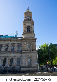 ADELAIDE, SOUTH AUSTRALIA. - On November 07, 2018. – Old historical buildings (General post office) is a landmark building with Heritage clock tower located at Adelaide CBD.