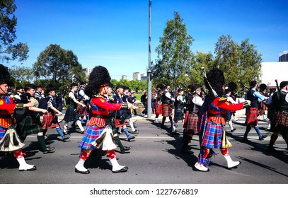ADELAIDE, SOUTH AUSTRALIA. - On November 11, 2018. – The marching in Remembrance Day for The Scots College, is a special anniversary evening event to coincide with Remembrance Day.