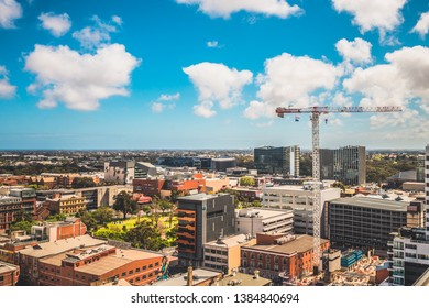 Adelaide, South Australia - September 30, 2017: Adelaide city skyline view towards north on a day