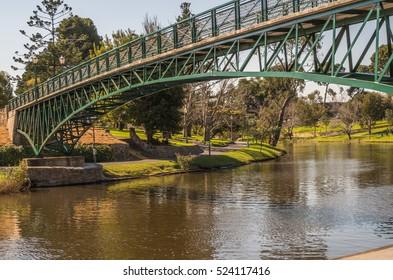 Adelaide University Footbridge was built in 1937  for pedestrian access across the River Torrens
