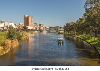Adelaide's River Torrens flows through the city center and has many attractions along the riverbank walkways