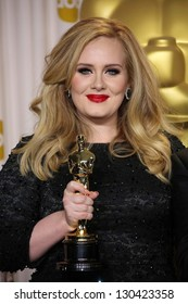 Adele at the 85th Annual Academy Awards Press Room, Dolby Theater, Hollywood, CA 02-24-13