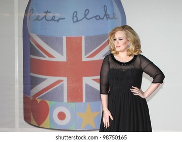 Adele arriving for the 2012 Brit Awards, O2 Arena, London. 21/02/2012 Picture by: Simon Burchell / Featureflash