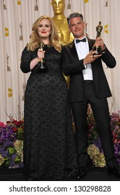 Adele & Paul Epworth at the 85th Academy Awards at the Dolby Theatre, Los Angeles. February 24, 2013  Los Angeles, CA Picture: Paul Smith