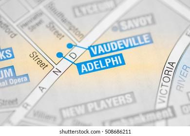 Adelphi Cinema. London, UK map.