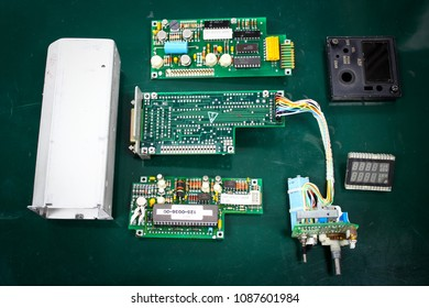 ADF control unit ,Navigation System , Avionics equipment in aircraft with maintenance.