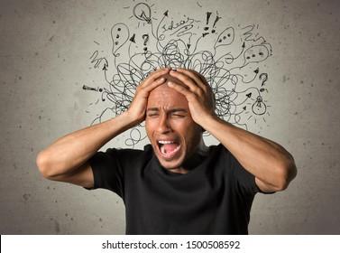 Adhd stress anxiety adult hard man mess