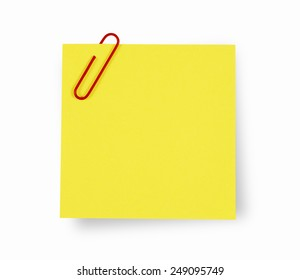 Adhesive Note with clipping path