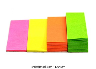 Adhesive notes isolated on white