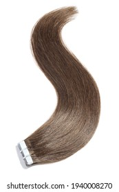 adhesive tape in straight brown remy human hair extensions
