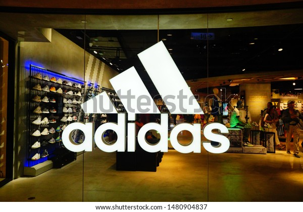 Adidas Logo Sign Brand Shoes Store Stock Photo (Edit Now