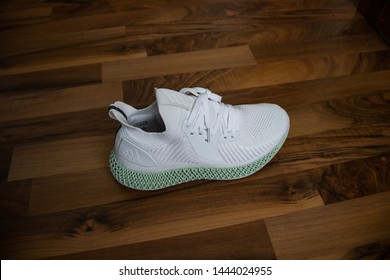 Adidas shoes Alphaedge 4D in white and green released on May 31 2019.