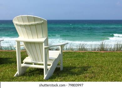 Adirondack Beach Chair with Ocean View