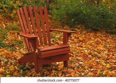 Adirondack Chair in Autumn