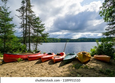 The Adirondack Mountains in NY state (USA)  contain multiple lakes and forests
