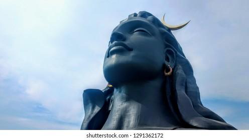 Adiyogi shiva statue coimbatore tamil nadu