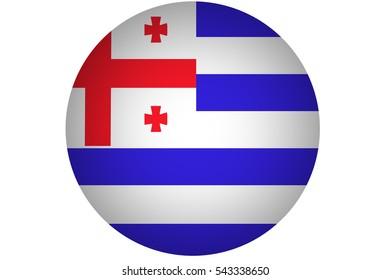 Adjara national flag illustration symbol.