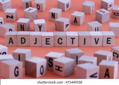 Imágenes, fotos de stock y vectores sobre Adjectives
