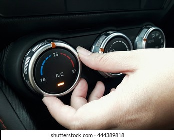 Adjust air conditioner in car