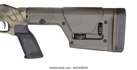 Adjustable rifle stock and pistol grip with recoil pad