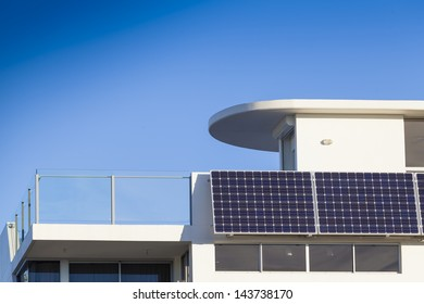 Adjustable solar panel installation on luxury home