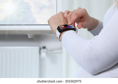 Adjusting room temperature with a Smartwatch in a Smarthome 2