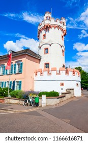 Adlerturm or eagle tower in Rudesheim am Rhein. Rudesheim is a winemaking town in the Rhine Gorge in Germany.