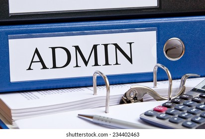 Admin - Administration Binder in the Office