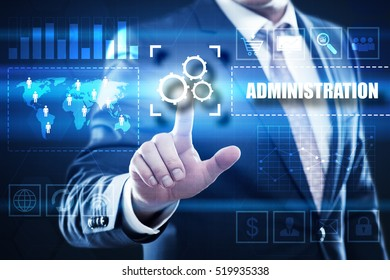 administration business and technology concept.