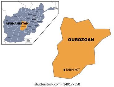 Administrative map of Afghanistan