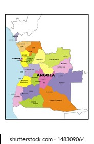 Angola Map Images Stock Photos Vectors Shutterstock