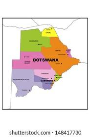 Botswana Map Images Stock Photos Vectors Shutterstock