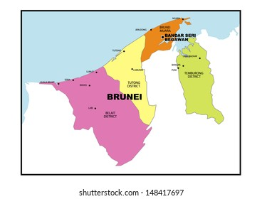 Physical Map Brunei Stock Illustration 148417664 Shutterstock