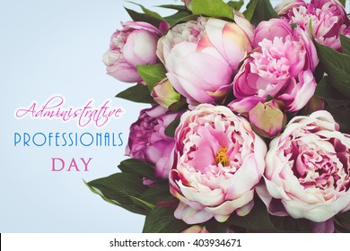 Administrative Professionals Day bouquet card.
