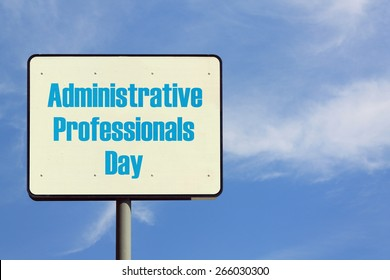Administrative Professionals Day Sign