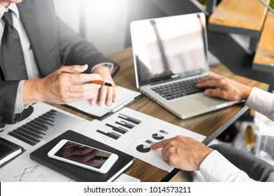 Administrator business man financial inspector and secretary making report, calculating balance. Service checking document. Audit team work discussting concept