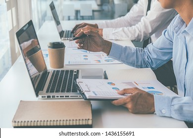 Administrator business man financial inspector and secretary making report calculating balance. Internal Revenue Service checking document. Audit concept