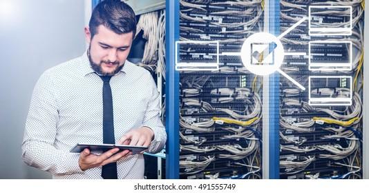 IT administrator. Internet service provider, male businessman. Programmer.