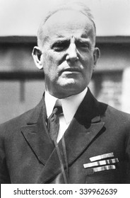 Admiral William Moffett, Chief of the Bureau of Aeronautics of the Navy in 1925. He maintained official support for Naval aviation against Billy Mitchell's wish to see an Independent Air Force.