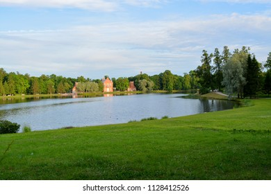 Admiralty on the shore of the Great Pond in the Catherine Park in Pushkin