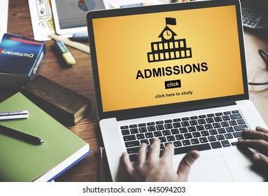 Admissions Education Knowledge University Academic Concept