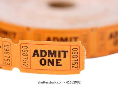 Admit one tickets roll