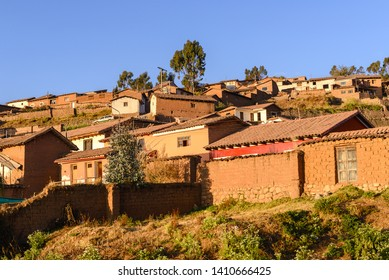 Adobe houses of Chinchero village, Peru