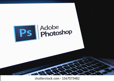 Adobe Photoshop logo computer is a raster graphics editor developed by Adobe Systems. THURSDAY, NOVEMBER 21, 2019. UNITED STATES, CALIFORNIA.