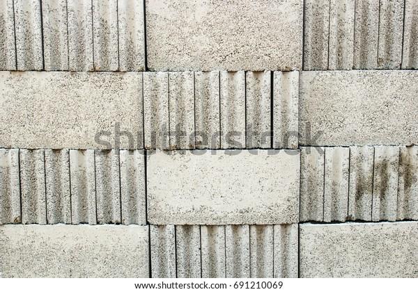 Adobe Stack Brick Block Pattern Outdoor Stock Photo (Edit Now) 691210069