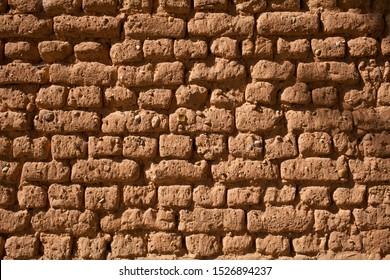 Adobe wall in La Horra, Burgos, Spain