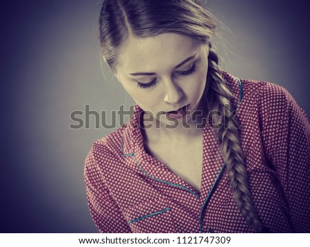 Adolescence Problems Concept Sad Young Teenager Stock Photo (Edit