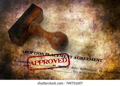 Adoption agreement grunge concept