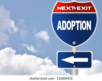 Adoption road sign